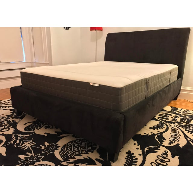 Crate & Barrel Upholstered Queen Bed Frame - Image 2 of 4