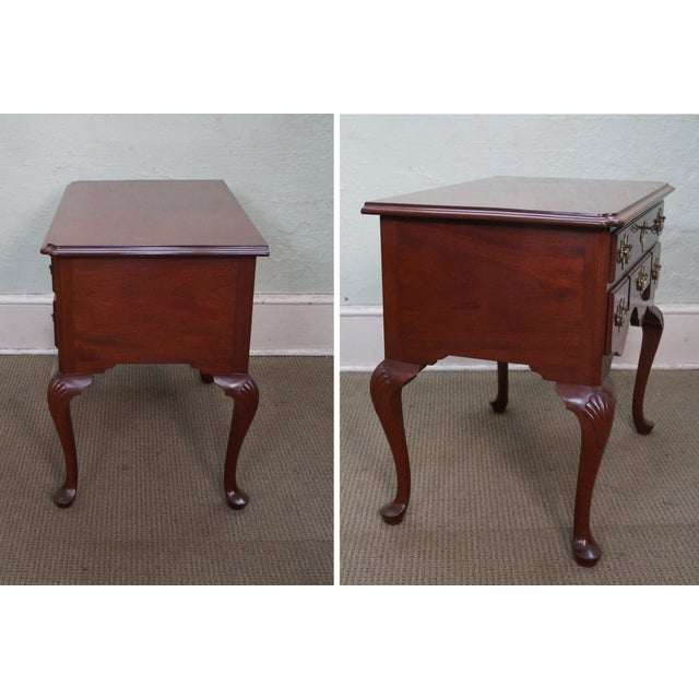 Queen Anne Style Solid Mahogany Low Boy - Image 3 of 10