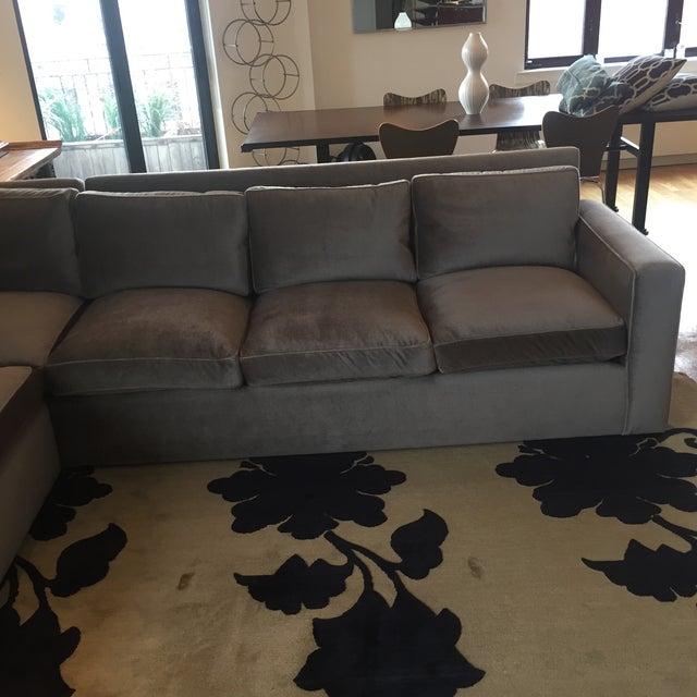 Custom Made Sectional Sofa & Ottoman - Image 5 of 7