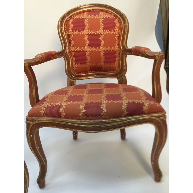 19th Century Venetian Louis XV Style Painted and Gilt Armchairs- A Pair For Sale - Image 12 of 13