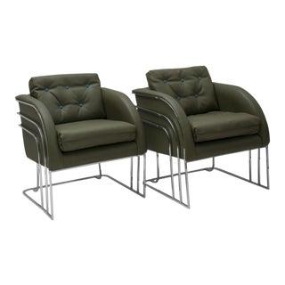 Milo Baughman for Thayer Coggin Club Chairs - a Pair For Sale