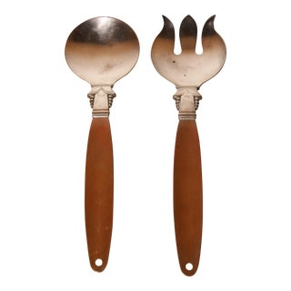 Antique Serving Utensils - a Pair For Sale