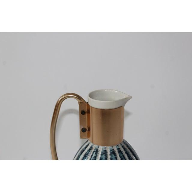 1957 Vintage C Miller Mid Century Ceramic Warming Carafe Decanter - Image 9 of 10