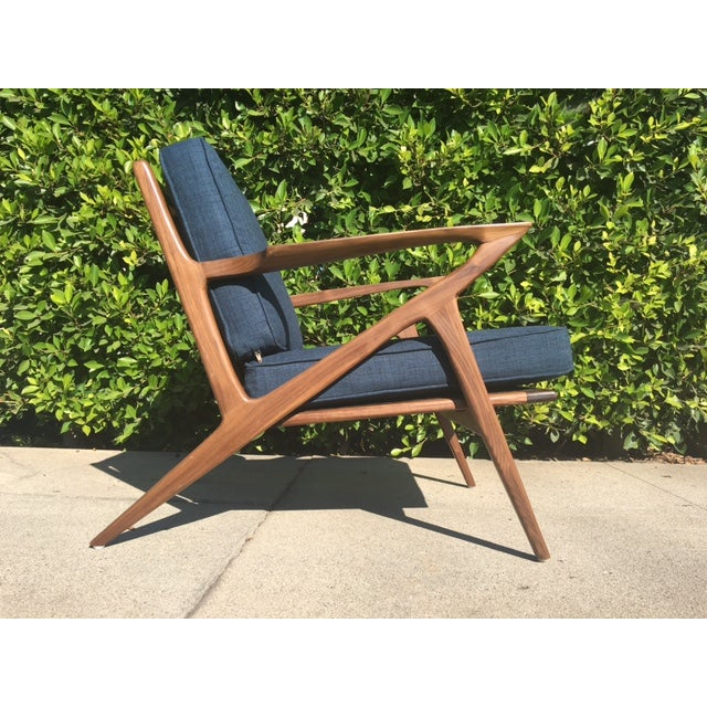 Modern Walnut Z-Lounge Chair For Sale - Image 4 of 6