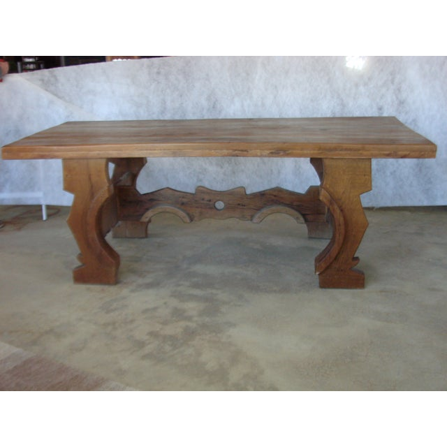 Mexican Oak Dining Table - Image 3 of 8