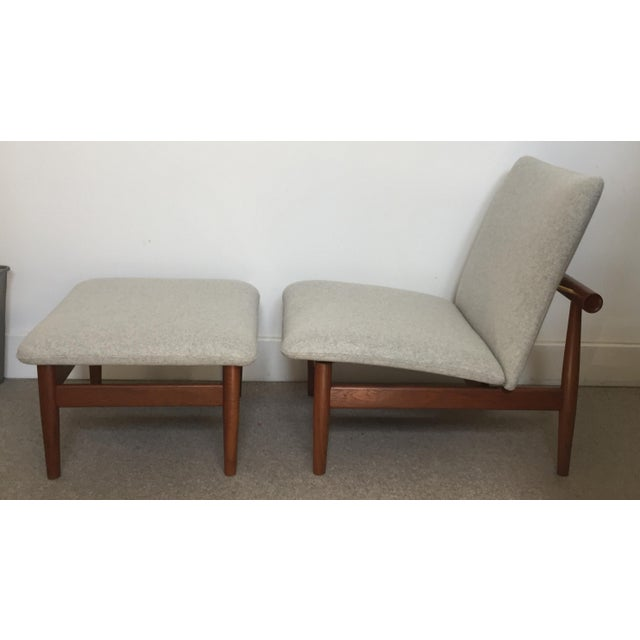 1950s Vintage Finn Juhl Japan Series Lounge Chair and Ottoman For Sale - Image 12 of 12