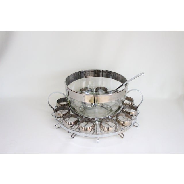 Dorothy Thorpe 15-Piece Punch Bowl and Glass Set - Image 6 of 8