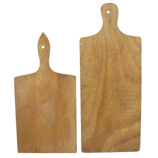 Vintage French Cheese / Bread Boards, Pair For Sale