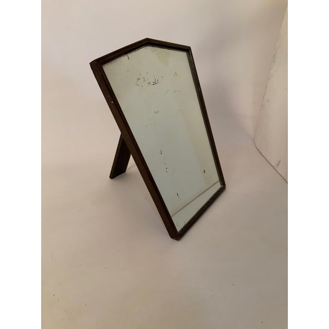 1930s Oak English Art Deco Table Top Mirror For Sale - Image 10 of 10