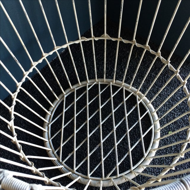 Vintage White Metal and Wire Basket - Image 6 of 7
