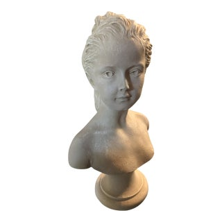 Victorian Style Bust of a Lady Statue For Sale
