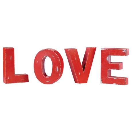 "Industrial Metal Hanging ""Love"" Letters - Set of 4 - Image 1 of 7"
