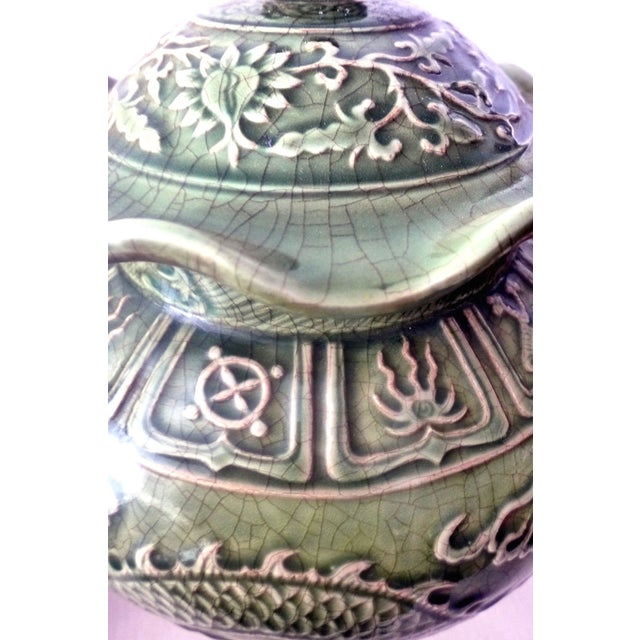 Dragons Celadon Lidded Ginger Jars - A Pair For Sale In New York - Image 6 of 8