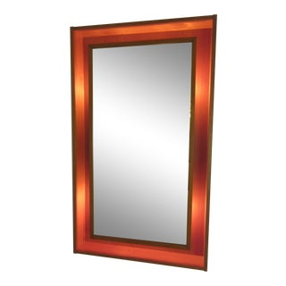 Pederson and Hanson Teak Back Lit Mirror