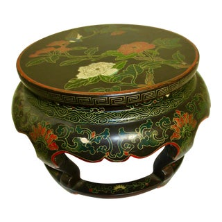 Chinese Painted Miniature Table Top Stand For Sale