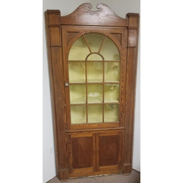 Vintage Pine Corner Cabinet For Sale - Image 4 of 4