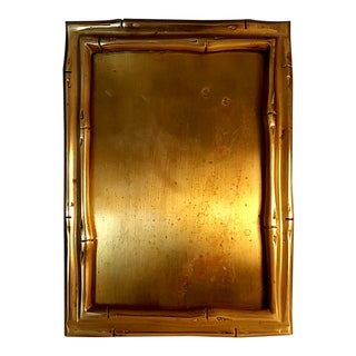 1930s French Art Deco Maison Bagues Bronze Bamboo Portrait/ Picture Frame For Sale