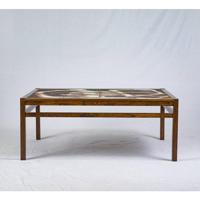 Contemporary Danish Abstract Tile Coffee Table For Sale - Image 3 of 10