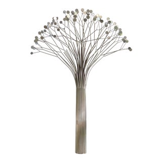 1970s Curtis Jere Tree Wall Sculpture in Chrome