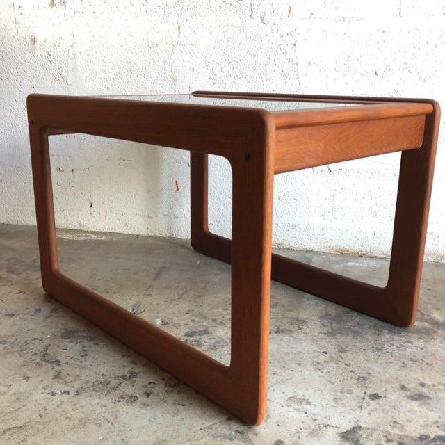 Mid-Century Modern Vintage Mid Century Modern Danish Side Table by Komfort Furniture For Sale - Image 3 of 11