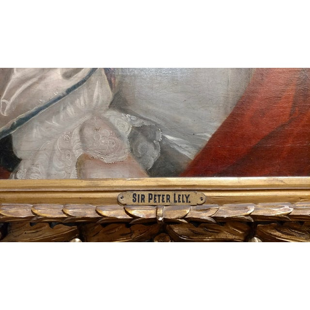 Canvas 18th Century Portrait of an English Aristocratic Woman -Oil Painting For Sale - Image 7 of 10