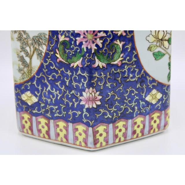 Large Antique Chinese Enamel Ceramic Vase For Sale - Image 9 of 13