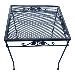 1940s Vintage Salterini Wrought Iron Accent Table For Sale