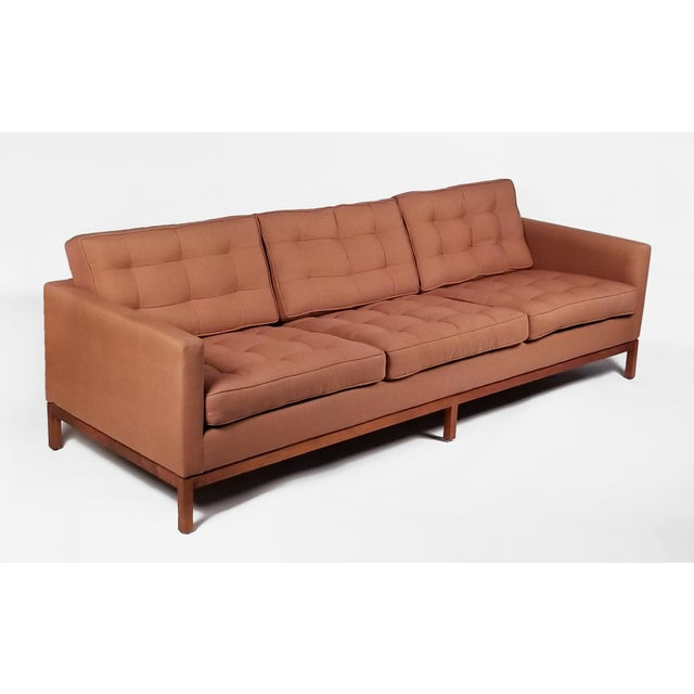 Red Three Seat Sofa Designed by Florence Knoll for Knoll International For Sale - Image 8 of 8
