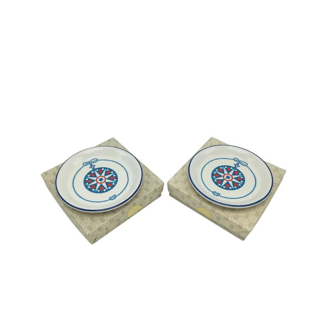 Mid 20th Century Gucci Porcelain Nautical Trinket Dish For Sale - Image 5 of 6