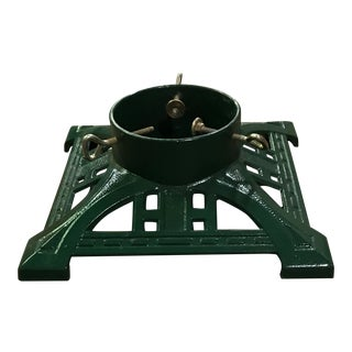 1990s Victorian Style Cast Iron Christmas Tree Stand For Sale