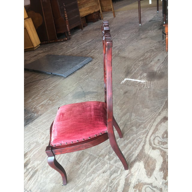 Rosette-Carved Victorian Chair - Image 6 of 8