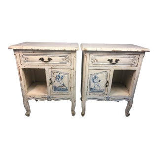 1910s Antique French Nightstands-a Pair For Sale