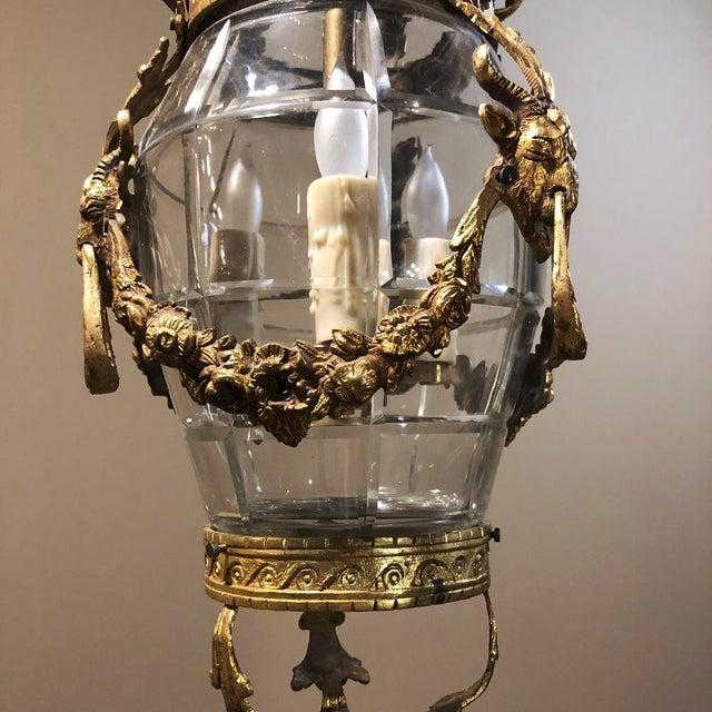 Antique Bronze & Crystal Lantern Chandelier For Sale In Dallas - Image 6 of 12