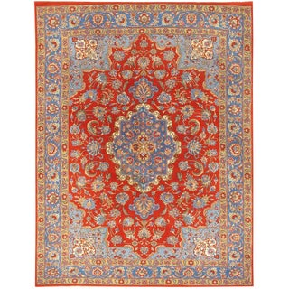 """Vintage Tabriz Rug, 6'8"""" X 8'7"""" For Sale"""