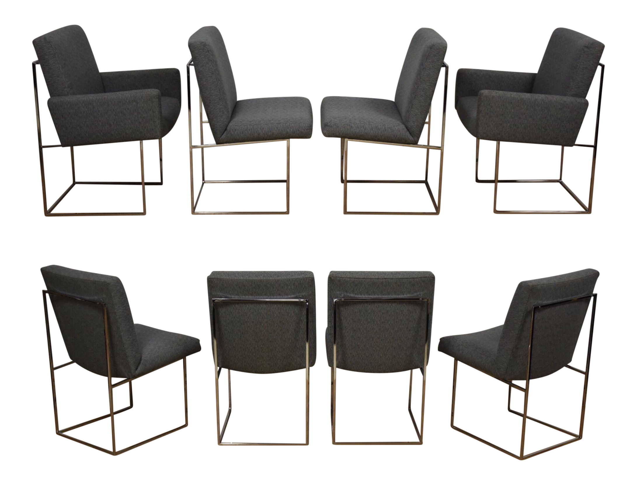 Milo Baughman For Thayer Coggin Chairs   Set Of 8