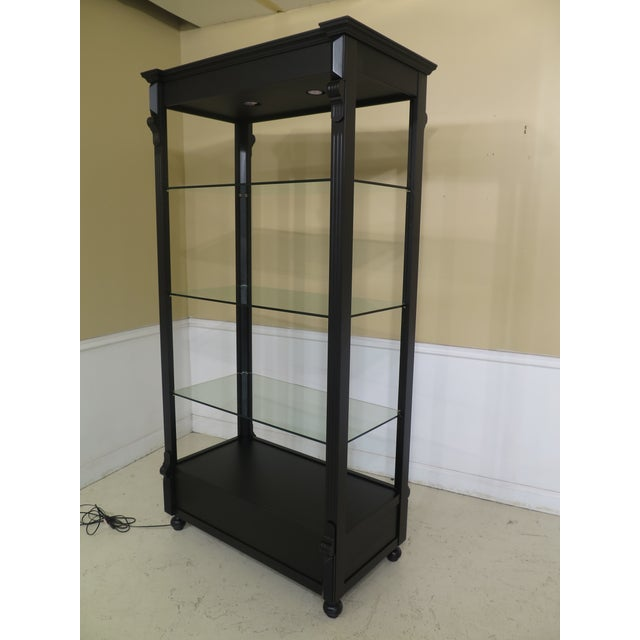 Black Lighted Open Display Curio Shelf For Sale - Image 4 of 8