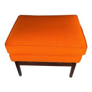 Milo Baughman for James Inc. Orange Ottoman For Sale