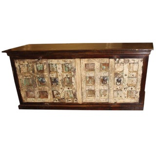 1920s Indian Reclaimed Solid Wood Sideboard For Sale