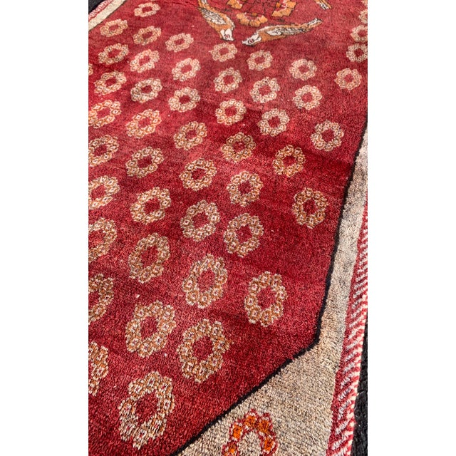"""Red 1960s Vintage Gabbeh Runner-3'6"""" X 11'10"""" For Sale - Image 8 of 10"""