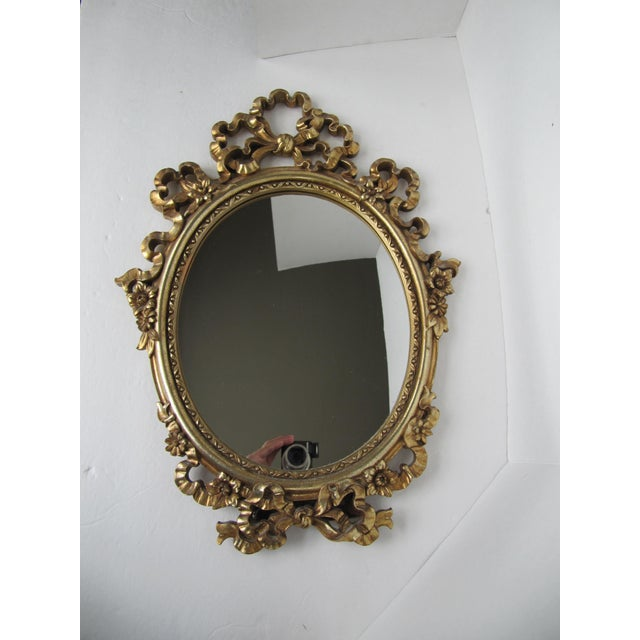 Art Deco Gold Syroco Wood Ornate Mirror For Sale - Image 3 of 7
