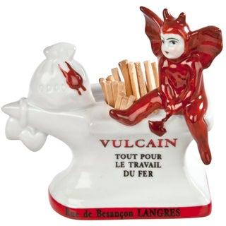 Vintage French Vulcan Anvil Porcelain Match Striker