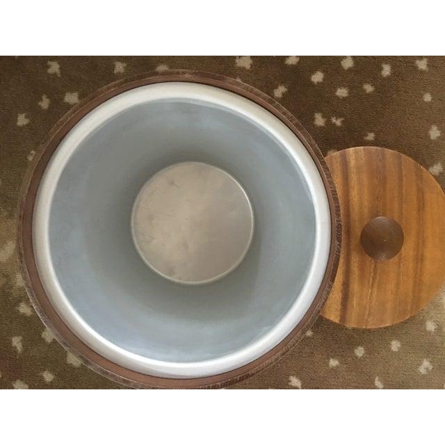 Teak and Brass Mid-Century Ice Bucket - Image 4 of 5