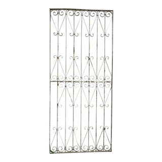 Antique Victorian Iron Gate Window Garden Fence Architectural Salvage Door For Sale