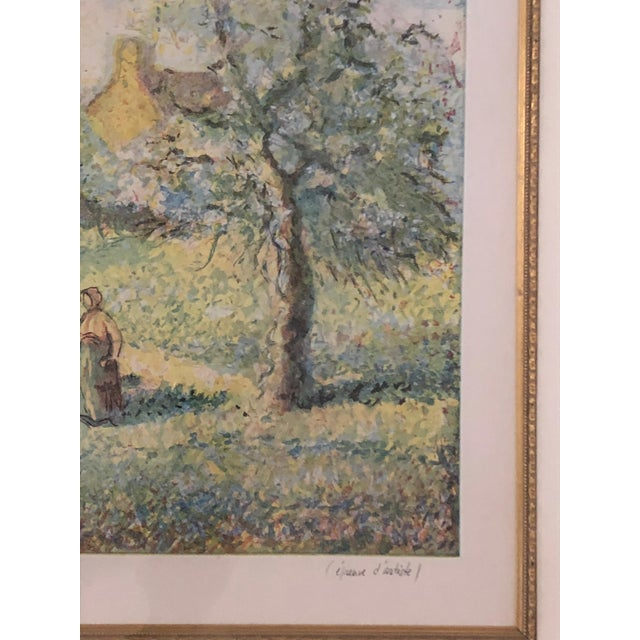 Impressionist 1900s Impressionist Print of Framed Trees in Bloom Aquatint Signed by H Claude Pissarro For Sale - Image 3 of 12