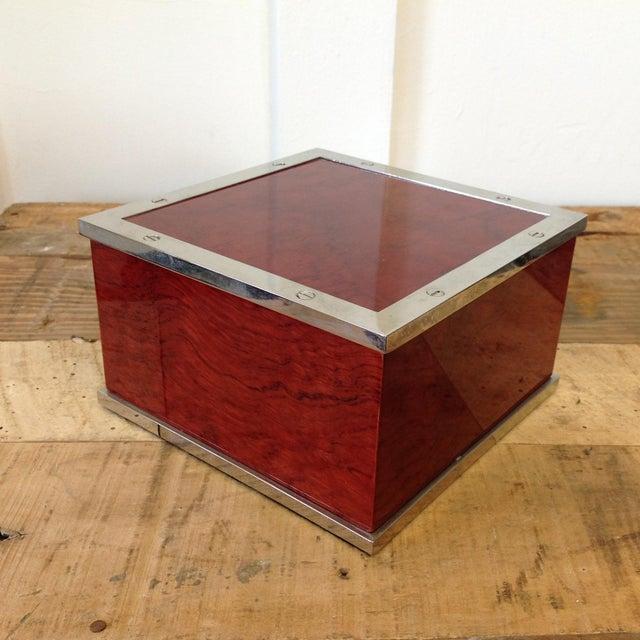 williams sonoma square jewelry box chairish