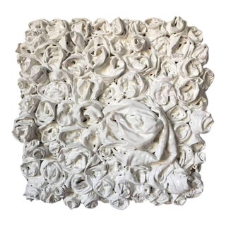 "Chloe Hedden ""White Rosettes 2"" Sculpture For Sale"