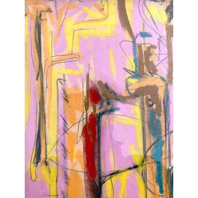 Original pastel sketch by Erik Sulander on paper with chrome frame, signed.
