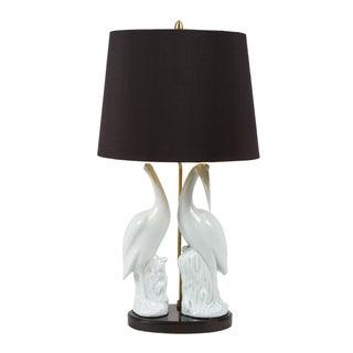 Marbro Egret Porcelain Lamp