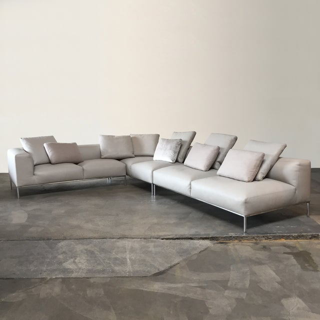 B&B Italia 'Frank' Sectional by Antonio Citterio, 2012. A leather B&B Italia sofa is the ultimate luxury. The soft downey...
