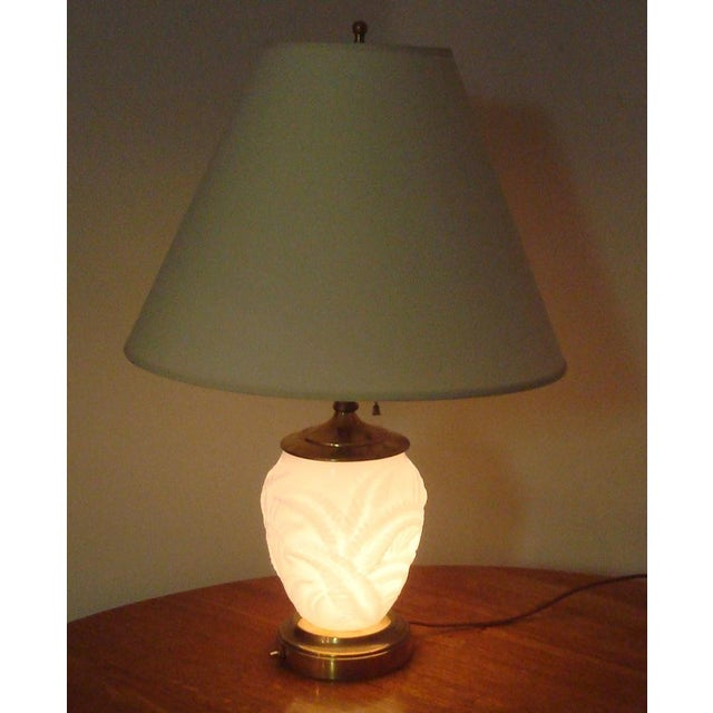Modern Opalescent Baluster Style Glass Table Lamp For Sale - Image 3 of 7